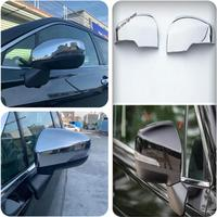 Yimaautotrims Door Side Wing Rearview Mirror Case Side Mirror Chrome Protection Cover Trim ABS Fit For Subaru Forester 2019 2020
