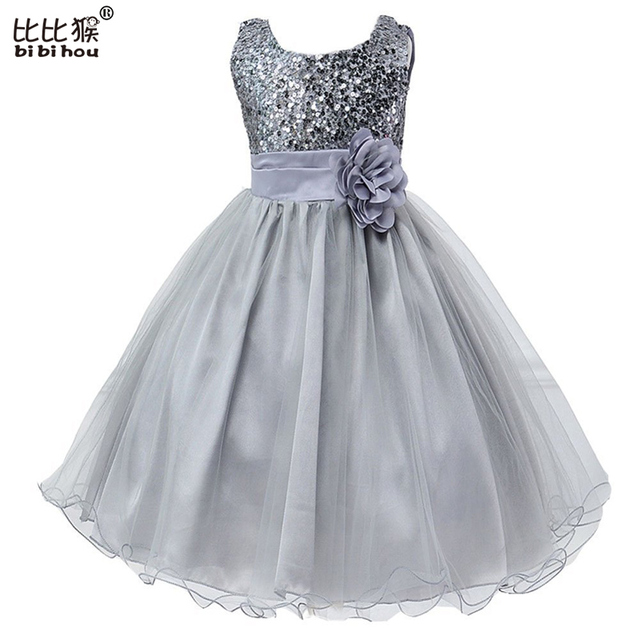 Summer Dress 2016 Girls Wedding Dress Baby Girls Clothes Princess Party  TuTu Dresses Sequins Decorative Baby 3fee5ac37c30