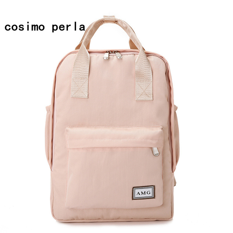 6e03647998b3 Detail Feedback Questions about New Nylon Canvas Backpacks Cotton Kanken Cute  Pink Women Backpack with Handle Korean Laptop School Bags Girls College ...
