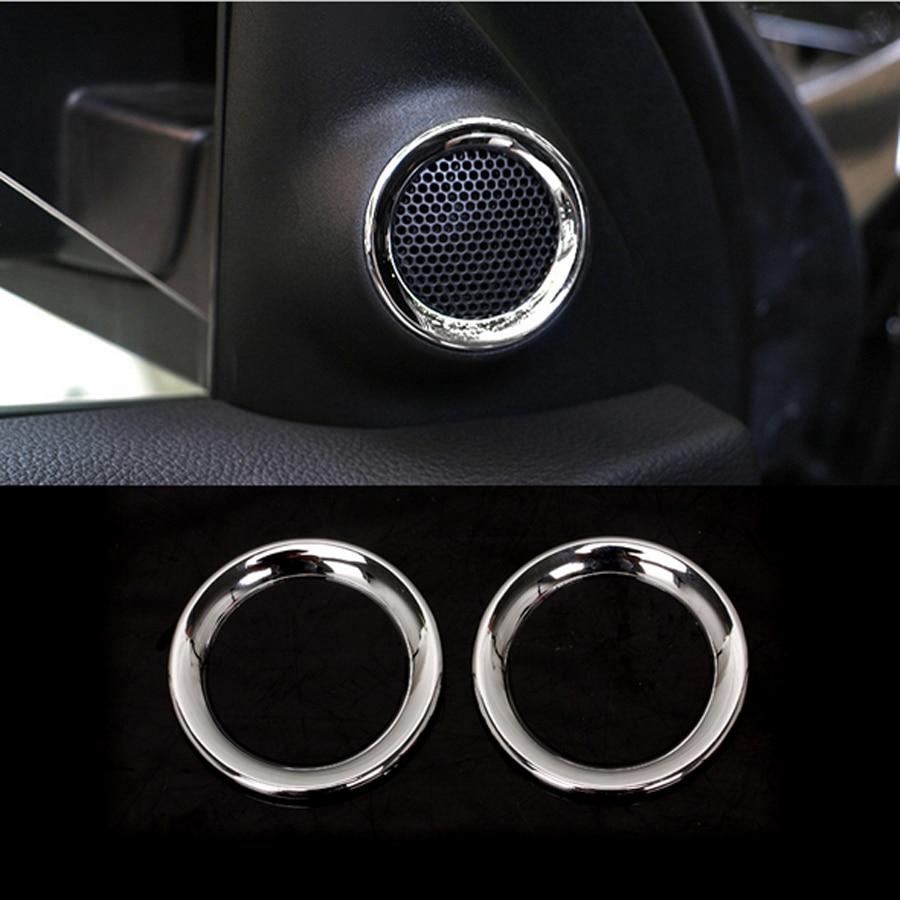 Chrome abs lautsprecher vorder schwanz tür ringe rahmen innen auto ...