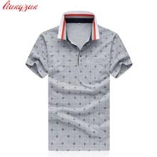 Men Polo Shirts 100% Mercerized Cotton Summer Short Sleeve Casual Slim Fit  Shirt Plus Size 5XL Business Chemise Homme SL-S018