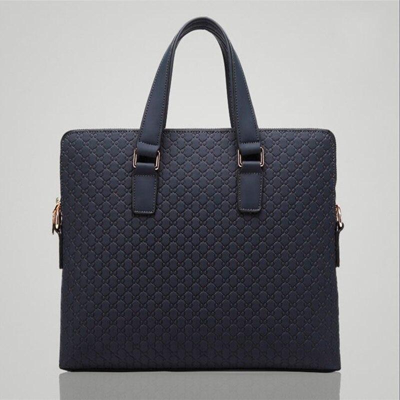 все цены на MIWIND Brand 2017 Men Genuine Leather Briefcase Shoulder Bags Classic Black Blue Male Business Handbag Vintage Computer Laptop онлайн
