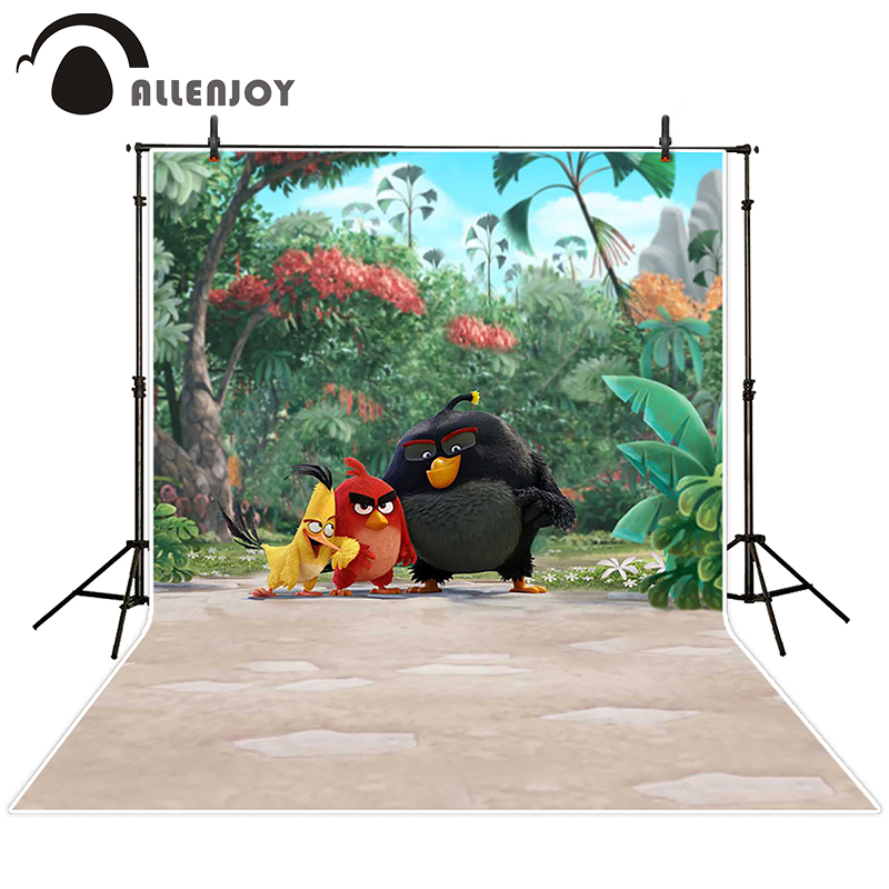 Allenjoy photographic background Bird cartoon beach grass backdrops baby christmas vinyl summer 8x12ft