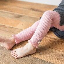 Детские чулки с бантом для маленьких девочек; леггинсы; длинные детские штаны с эластичной резинкой на талии; теплые брюки для младенцев; весенние детские штаны
