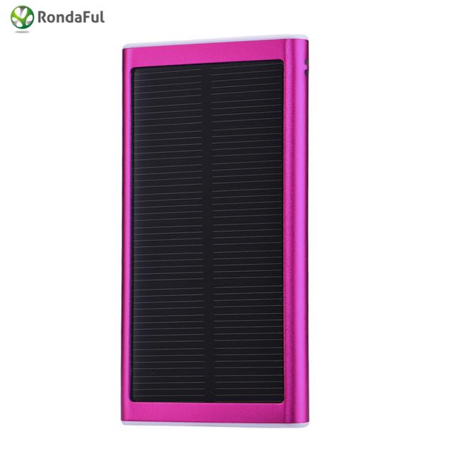 Hot 3000 mAh Powerbank Cargador de Batería Portátil Solar Power Bank Batería Externa USB Único para Todo el Teléfono Inteligente banco de la energía