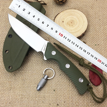 LW Explorer II fixed blade straight knife D2 blade G10 handle KYDEX Sheath tactical camping hunting survival EDC tools VG10