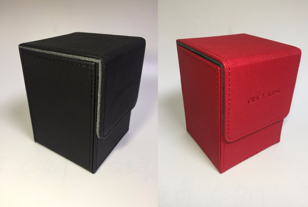 cards box Red Black board game card box case collection boxes for magical the cards Yu-Gi-Oh TCG trading cards