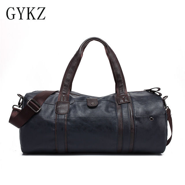 GYKZ Vintage Leather Men Travel Shoulder Bag Large Capacity Men Gym Bag Korea Style Fitness Bag Professional Outdoor Equip HY018
