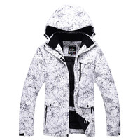 Women Men Ski Jacket Super Warm Waterproof Hooded Skiing Snowboard Cycling Sport Wear Unisex Clothing Thicken Thermal Coat 2017