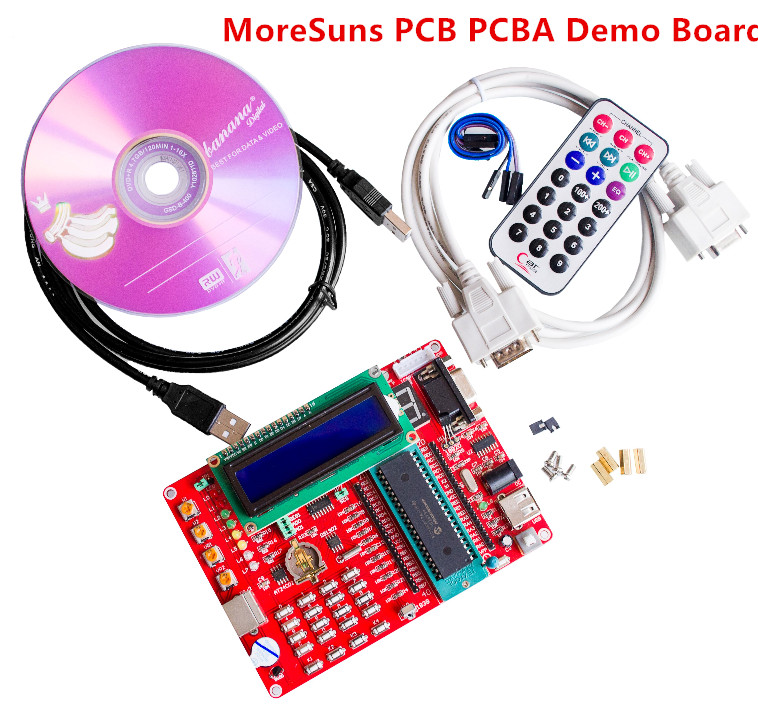 2pcs learning board PIC Microcontroller Experiment Board PIC Microcontroller Development Board 16F877A Video Tutorials pic microcontroller development board the experimental board pic18f4520 including pickit2 programmers excluding books
