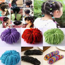 50Pcs/Set Elastic Hair Bands Black Hairbands for Girls Fashion Women Gum Accessories