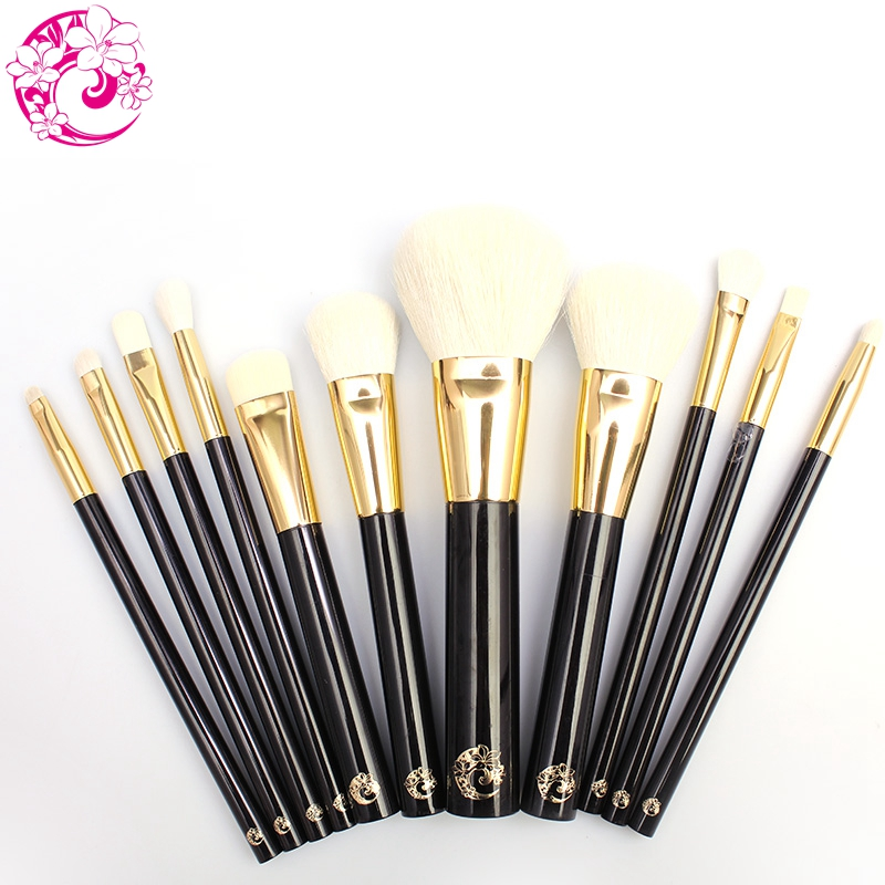 ENERGY Brand Professional 11pcs Makeup Goat Hair Brush Set Make Up Brushes +Bag Brochas Maquillaje Pinceaux Maquillage tf11 цена 2017