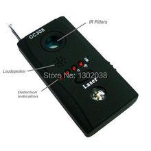 Wireless Radio Wave Signal RF Camera Lens GPS Laser GSM WiFi Bug Detector Probe Monitor Anti SPY Candid Full-range CC308+