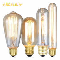 ASCELINA Edison Bulb Vintage Lamps Incandescent Bulbs Retro lamp Industrial Light bulb Decoration Home lighting E27 85-260V 40W
