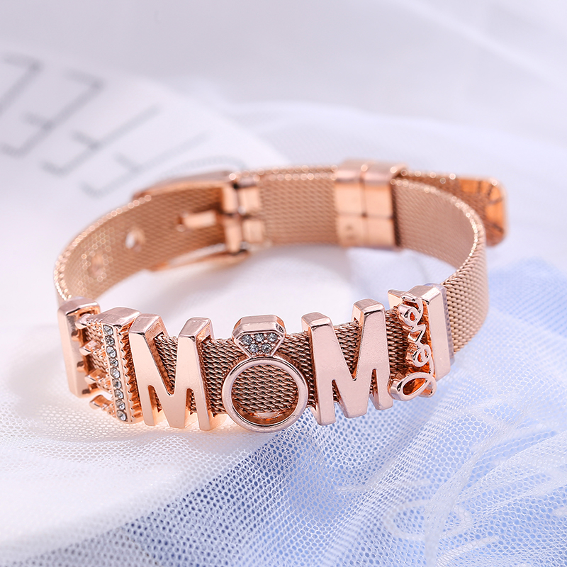 The Perfect Match LOVE MOM Charms Bracelet