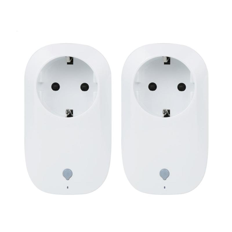 2PCS Wifi power socket Switch Mini Timer Smart plug Automation Remoter Control Switch Outlet Energy Saving Socket for Smartphone 2017 broadlink sp3s sp3 timer plug eu wifi power socket plug outlet smart home automation app control switch for iphone android