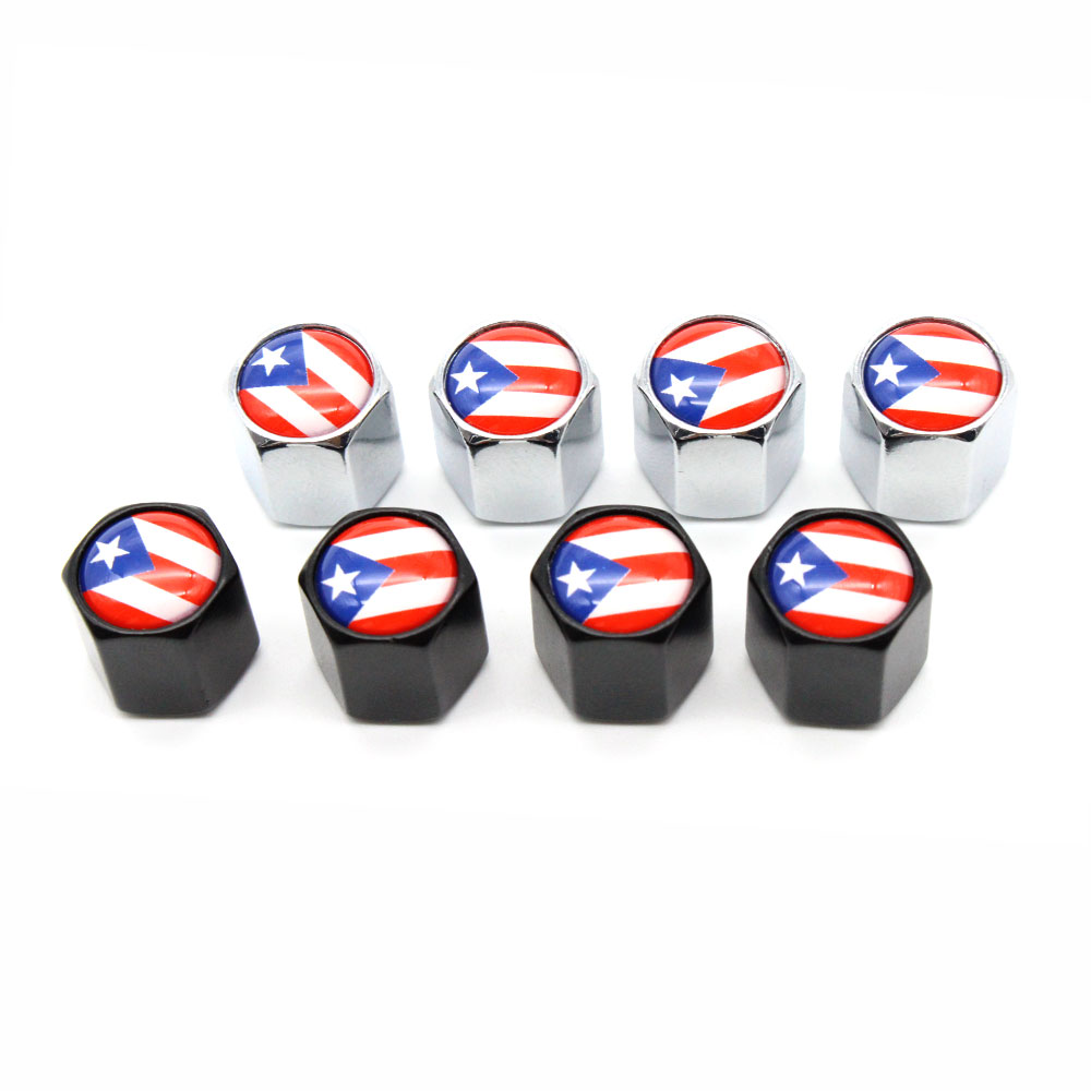 4 Pcs/Set Puerto Rico flag Car Valve Caps Car Dust Caps Tire Wheel Stem Air Valve Caps Valve Stem Cover for Cars Moto Bike4 Pcs/Set Puerto Rico flag Car Valve Caps Car Dust Caps Tire Wheel Stem Air Valve Caps Valve Stem Cover for Cars Moto Bike