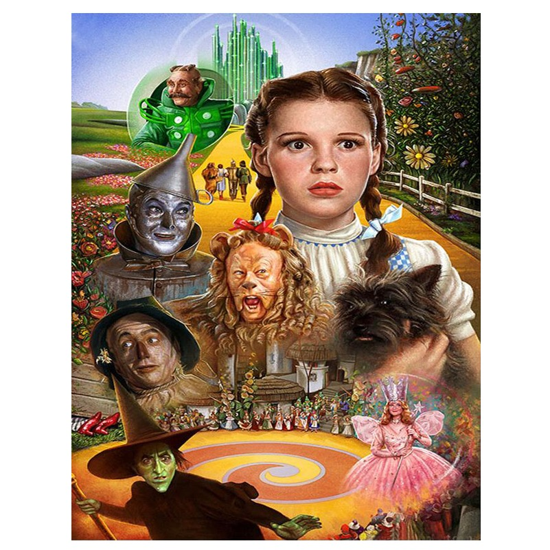 5D DIY Diamond Embroidery The Wizard Of Oz Diamond Painting Cross Stitch Full Square/Round Mosaic Needleworks Home Decor