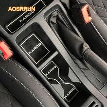 AOSRRUN силиконовые дверные подушки для подушки и подушки для амортизации автомобильные аксессуары чехол для Skoda Karoq