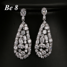 Be8 Brand Top Quality AAA Cubic Zirconia Acessorios Fahion Beauty Crystal Formed Dangle Earrings Birthday Gifts for Girls E-259 be8 brand aaa cubic zirconia fashion tassel dangle earrings unique jewelry beautiful long dangle earring for girl gifts e 298