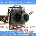 2MP 1920*1080P AHD Camera Module 1/2.8 NVP2441+SONY IMX322 2000TVL 2.8mm wide-angle 120degree surveillance camera ODS/BNC Cable