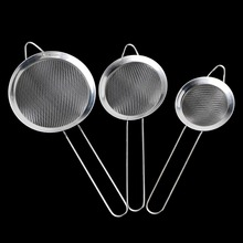 Diameter 7/8/10/12/14/16/18/20/22cm Kitchen Stainless Steel Flour Tea Strainer Mesh Colander Sieve Filter Sifter DIY Tools