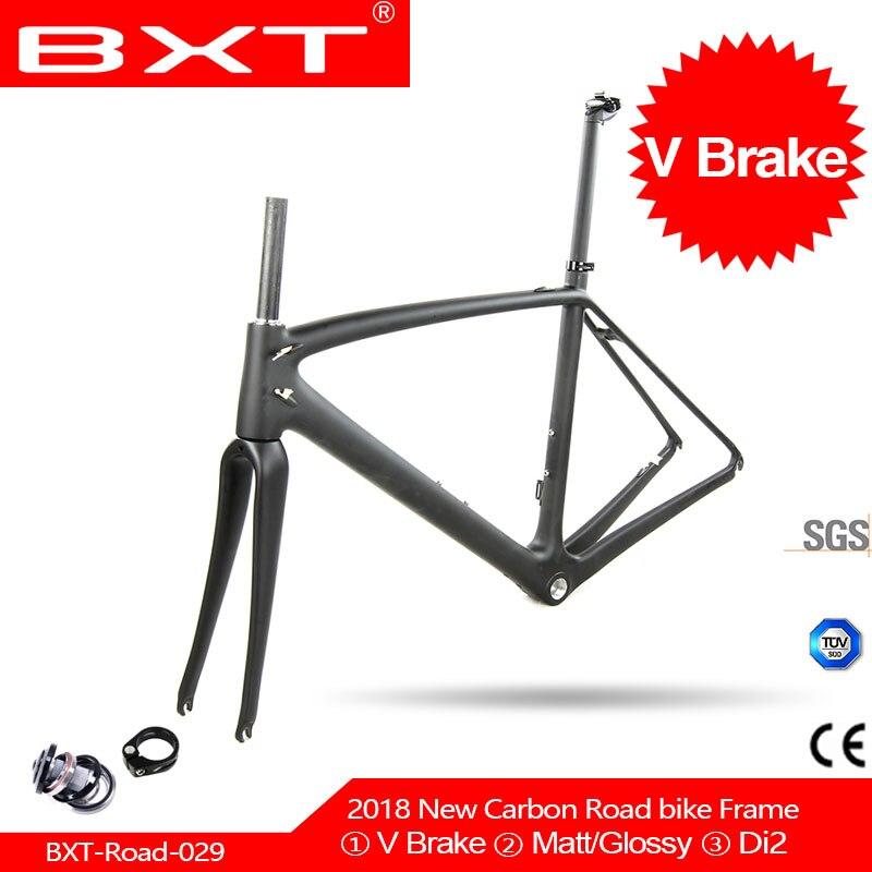 T800 Carbon Road Bike Frame BXT Cycling Frameset/ Fork/seatpost/headset 700C*23c Road Frame 49/52/54/56/58cm Matt/glossy Frames