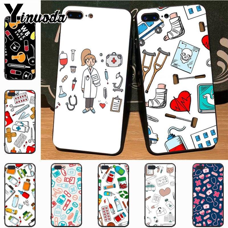 Alert Seracase Fashion Spain Cartoon Medicine Doctor Nurse Case For Iphone X 8plus 7 7plus 6 6s 5s Se Case Soft Tpu Cover Half-wrapped Case