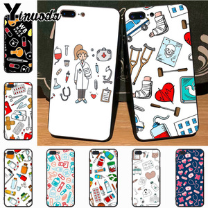 Yinuoda Nurse cartoon Medical Pills Hot Fashion phone case cover for iPhone 7plus 6S 7 xs max xr 8 8Plus X 5S 11pro case cover(China)
