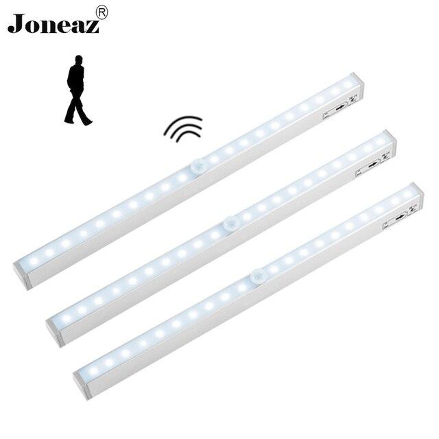 Motion sensor led kitchen closet cabinet light with battery lamp 20 leds armadio armario easy install under cabinets Joneaz