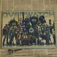 overwatch ow juego personajes pegatinas de pared decoracin del hogar de la pintura de la vendimia