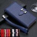 Para iphone 7 negócios de luxo mulheres/homens slot para cartão wallet holster pu couro case capa para iphone 5 6 6 s plus telefone funda saco