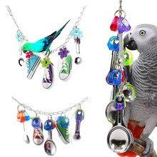 Parrot Toys Small Animal Bird Hanging Chew Parkieten Cockatiel String Pet Playing Training Supplies