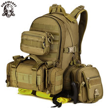 цена на SINAIRSOFT Military Tactical Assault Pack Army Molle Waterproof Outdoor Hiking Camping Hunting Combination backpack