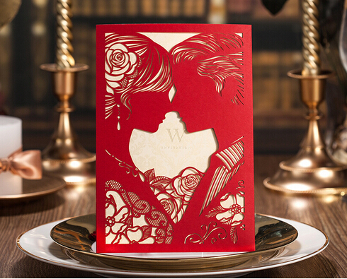 Red laser cut wedding cardslove kiss invitation cards cw020 in red laser cut wedding cardslove kiss invitation cards cw020 in cards invitations from home garden on aliexpress alibaba group stopboris Choice Image
