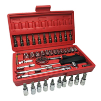 46pc 1/4 Car Repair Tool Set Mixing Tools Screwdriver Sets Wrench Kit