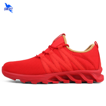 New 36-44 Sport Running Shoes Women Men Outdoor Breathable Comfortable Couple Shoes Blade Rubber Sole Athletic Air Mesh Sneakers