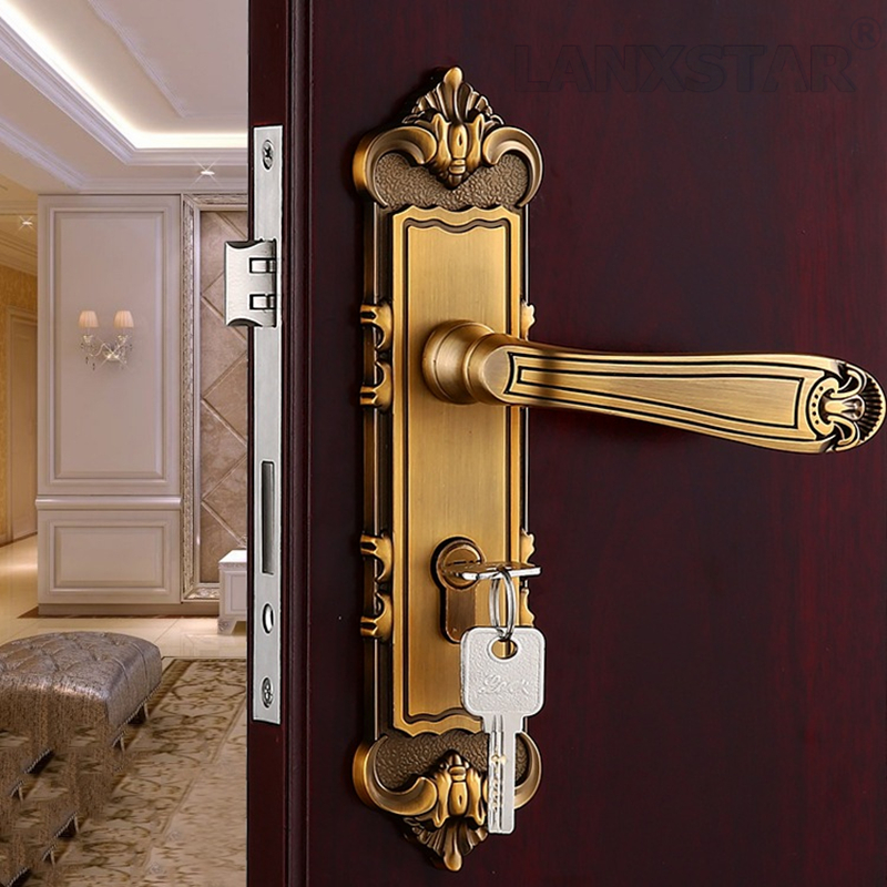 Wholesale Luxury Handle Locks Room Door Locker Bulk Order Quality Assurance Mute Lockcore Indoor Lock