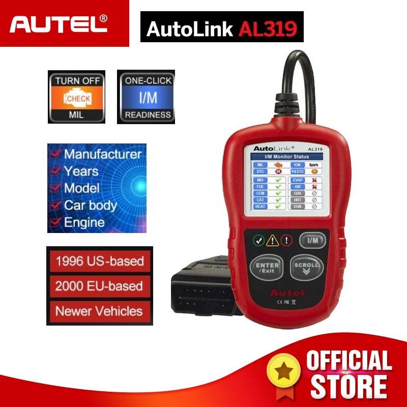 Autel AutoLink AL319 OBD2 Code Reader OBDII car Auto scanner Automotive Diagnostic Tool Circuit Testers PK elm327 AD301 ML319