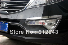 Free shipping! For KIA Sportage 2010 2011 2012 2013 Chrome car styling front foglight cover sill fog light lamp cover