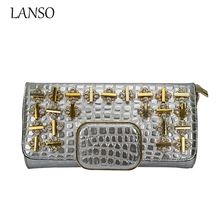 Luxury Bling Rhinestone Crystal  Diamond Shoulder Bag Handbag Diamonds Lattice Lady Party Long Wallets  Birthday Clutch Purse