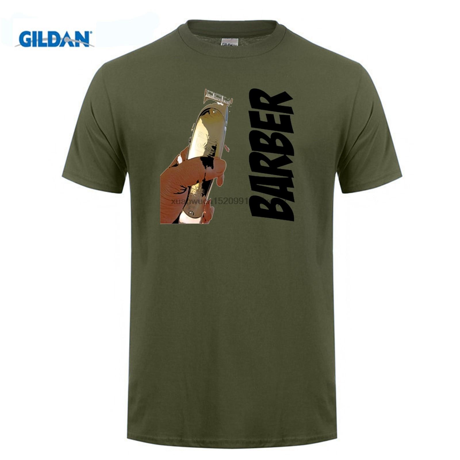 100% Waar Interessante Heren T-shirt O-hals De Kapper Kapper Black Tee Shirts Uniform Hip-tope Selling S ~ 3xl Helder En Doorschijnend Qua Uiterlijk