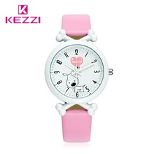 Kezzi Kids Watches Cartoon Leather Dog Quartz Watch