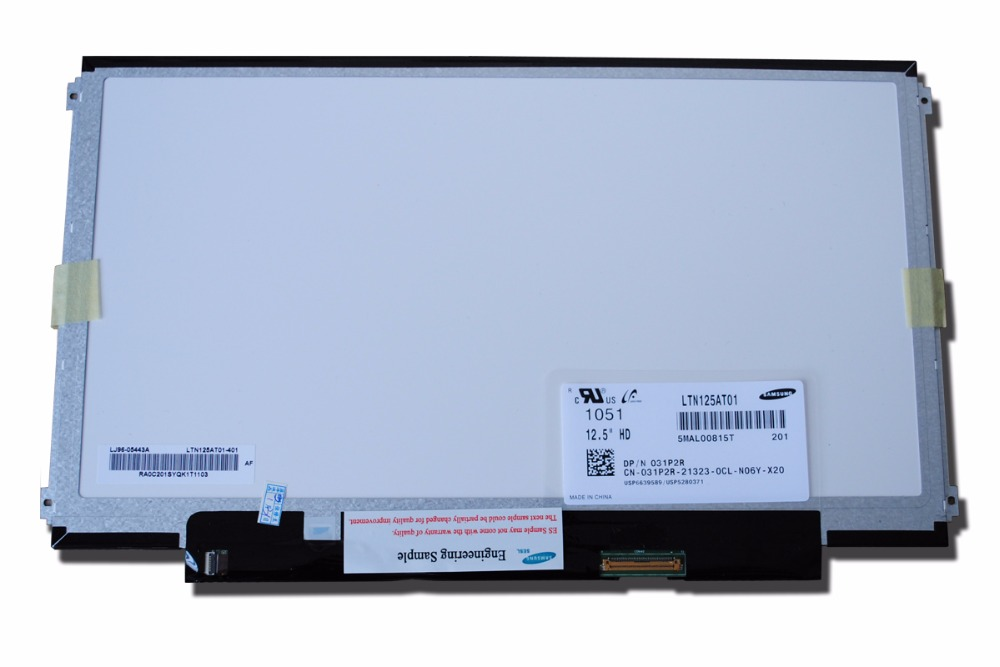 New LED Laptop screen LTN125AT01 LP125WH2 B125XW01 V.0 for lenovo E6200 x220 k27 k29 lcd screen штатив 2 fotomate lp 01 lp 01