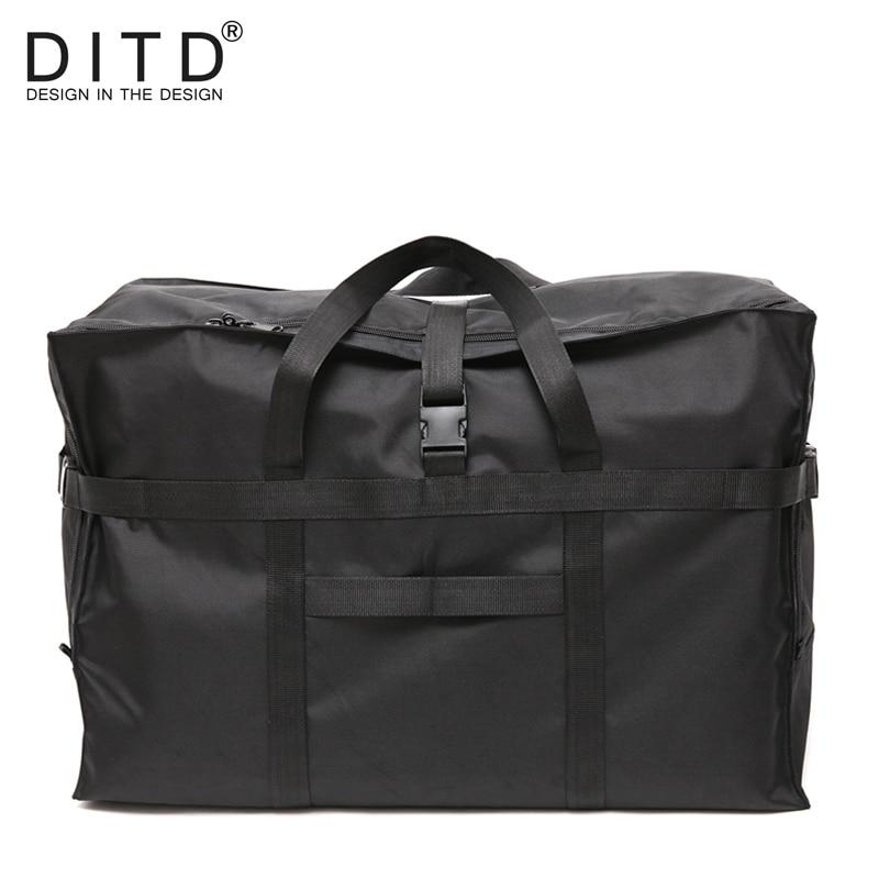 DITD 2019 High Quality Fashion WaterProof Travel Bag Large Capacity Bag Women Nylon Foldable Bags Unisex Luggage Travel Handbags