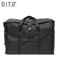 DITD 2019 高品質のファッション防水旅行バッグ大容量バッグ女性ナイロン折りたたみバッグユニセックス荷物トラベルハンドバッグ