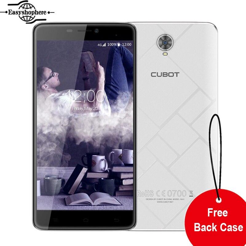 Цена за 6 Дюймов Cubot Макс 4 Г Смартфон Android 6.0 MTK6753 Octa основной Мобильный телефон 3 ГБ RAM 32 ГБ ROM Телефон 4100 мАч 13MP 1280x720 Celular