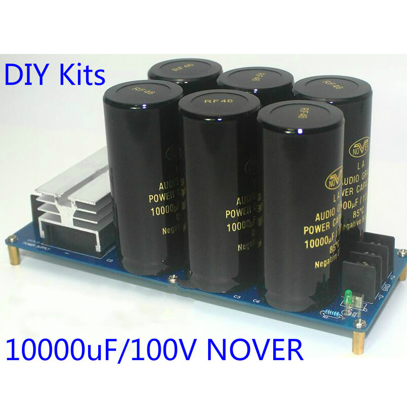 Amplifier Rectifier Filter Double Power Supply 50A 500W Power Board HIFI DIY Kits 10000uF 50V 10000uF