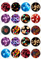 (20 pieces/lot) 20mm round Pattern cabochon mix spongebob/flower bud/flag/cat image glass cabochon blank pendant cover xl6556