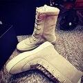 2016 de Gamuza de Cuero Unisex Botas Tácticas Botas unisex Botas de Combate Del Ejército Táctico Militar de west Chelsea Zapatos